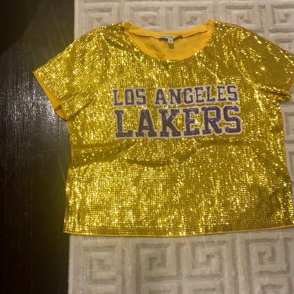 Express x NBA Sequin Jersey Shirt